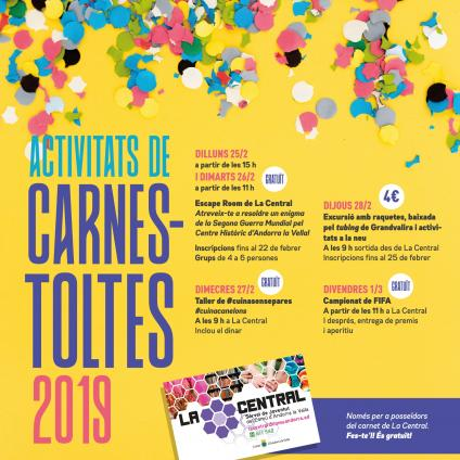 Cartell carnaval La Central 20019