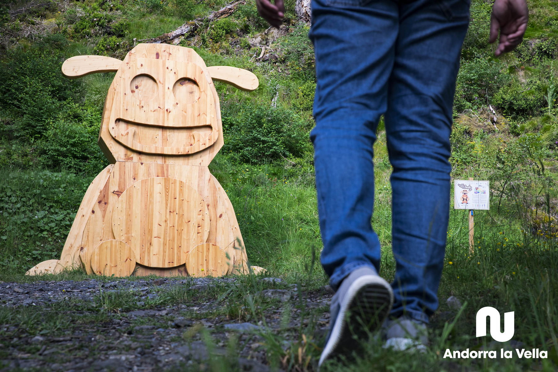 Andy, el tamarro d'Andorra la Vella situat a la Comella.